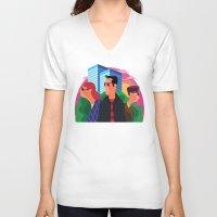 concrete V-neck T-shirts featuring Concrete Jungle by James Boast