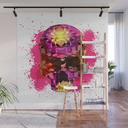 Skull with Crystal Polygon Wall Mural