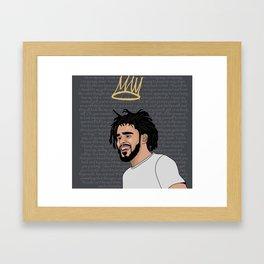 Crooked Smile Framed Art Print