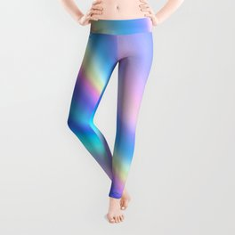 Iridescent Holographic Abstract Colorful Pattern Leggings