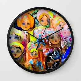A Gaggle of Girls Wall Clock