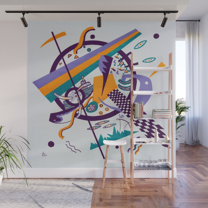 Wassily Kandinsky Small Worlds IV Wall Mural by jjbzz