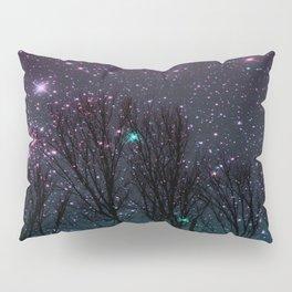 Purple teal stars Pillow Sham