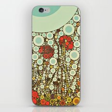 Pop Pop Poppies Abstract Red Flowers and sky with vintage pop art charm iPhone & iPod Skin