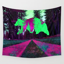 Bear in the sky Wall Tapestry