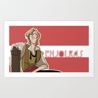 enjolras Art Prints featuring Enjolras by invisibleinnocence