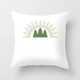 I Must Go Camping Outdoor Scout Camping Trekking Throw Pillow