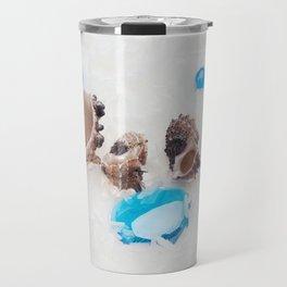 sea abstract background Travel Mug