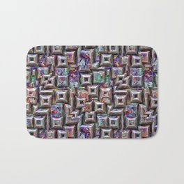 Colorful 3D Abstract Structure Bath Mat