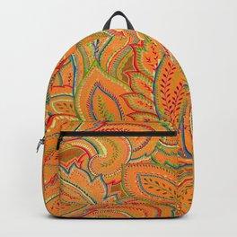 peach paisley Backpack
