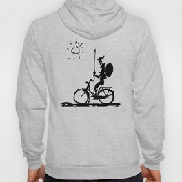 Don Quixote Riding Bike, Sketch Line Parody 1955 T Shirt Hoody
