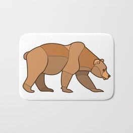 Shapely Brown Bear Bath Mat