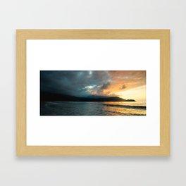 Hanalei Sunset (panorama) Framed Art Print