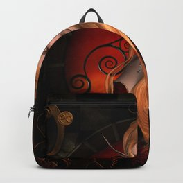 Steampunk lady Backpack