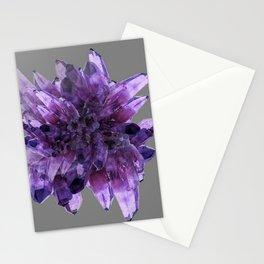 PURPLE AMETHYST QUARTZ CRYSTALS MINERAL SPECIMEN Stationery Cards