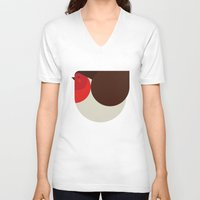 robin V-neck T-shirts featuring Robin by argijale