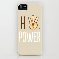 HiiiPower (w/text) : Pale Slim Case iPhone (5, 5s)
