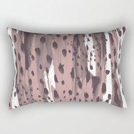 Rose and Dark Violet Rectangular Pillow