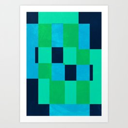 L Blocks Art Print