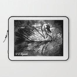 Swan In The Moon Light Laptop Sleeve