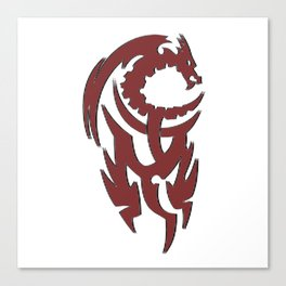 Tribal Dragon Canvas Print