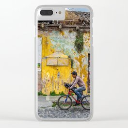 Antigua by bicycle Clear iPhone Case
