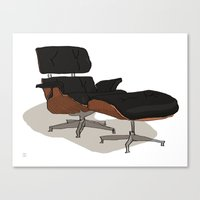 eames Canvas Prints featuring Eames by Arsed