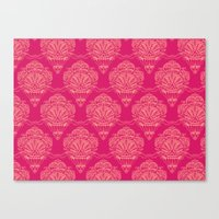 damask Canvas Prints featuring Damask by cactus studio