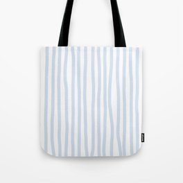 Light Blue Stripes Tote Bag