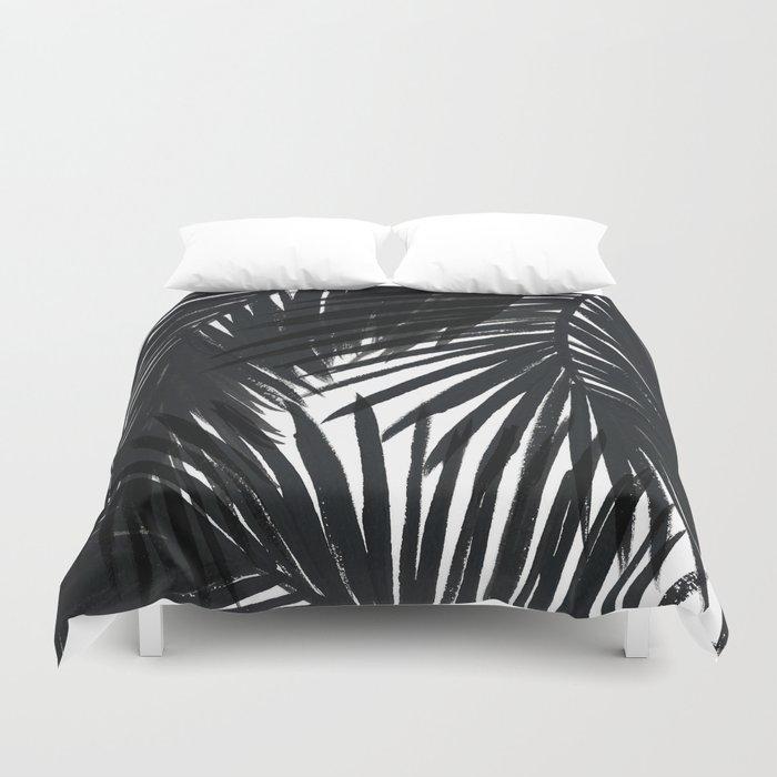 Palms Black Duvet Cover