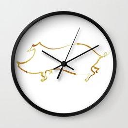 The Golden Pig Wall Clock