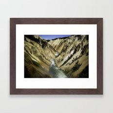 Grand Canyon of the Yellowstone Framed Art Print