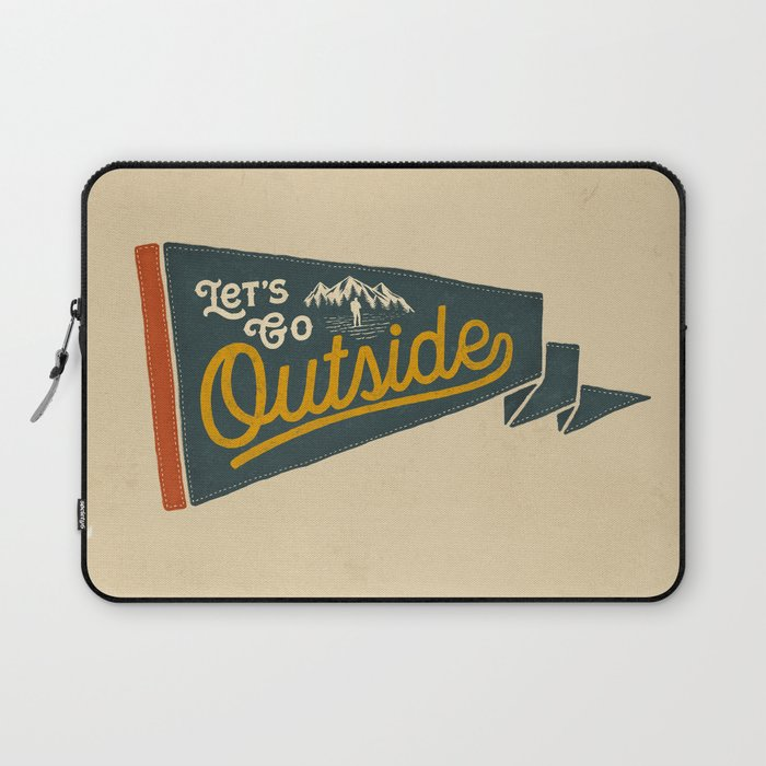 LET'S GO OUTSIDE Laptop Sleeve