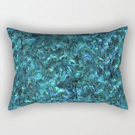 Abalone Shell | Paua Shell | Cyan Blue Tint Rectangular Pillow
