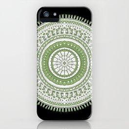 Hand Drawn Mandala Block Print Look iPhone Case
