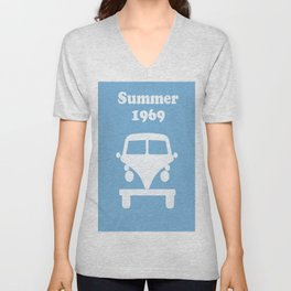 Summer 1969 -  lt. blue Unisex V-Neck