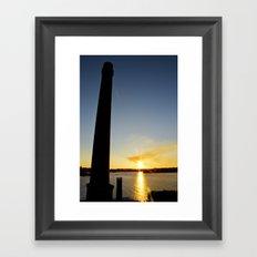 Sunset on Cockatoo Island Framed Art Print
