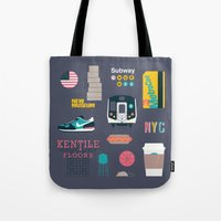nyc Tote Bags featuring NYC by 914k