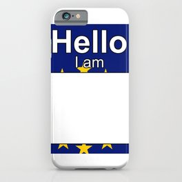 Hello I am from Cape Verde iPhone Case