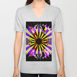 Dartboard pop art Unisex V-Neck