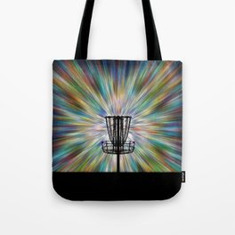 Disc Golf Basket Silhouette Tote Bag