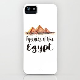 Pyramids of Giza watercolor iPhone Case