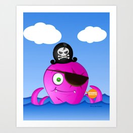 Octopus Pirate Art Print