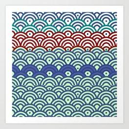 Art Deco Seigaiha 2 Art Print