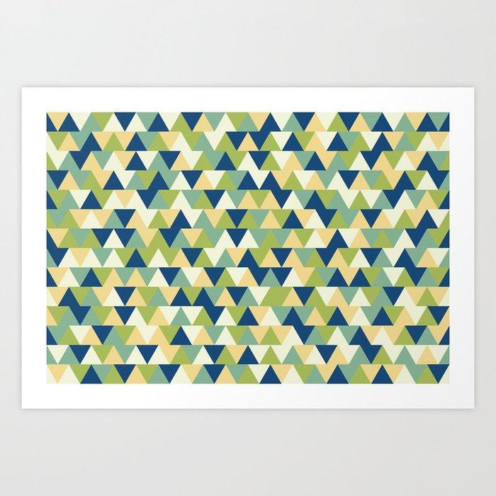 Rockpool Triangles Kunstdrucke