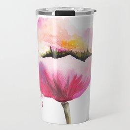 Poppy flower Travel Mug