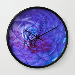 blue ln Wall Clock