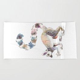 Splotchy Lemur Beach Towel