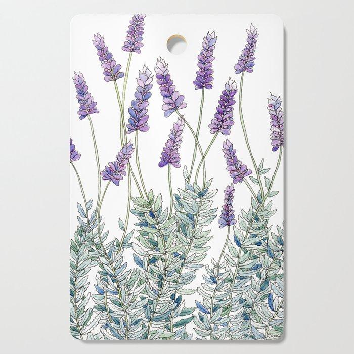 Lavender, Illustration Cutting Board