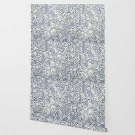 Reverie (in Ivory and Blue) Wallpaper
